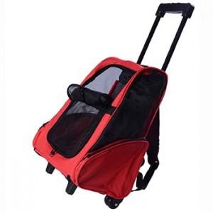 Outsunny - Trolley zaino per cani gatti ed altri animali 2 in 1 borsa da trasporto trasportino per cani