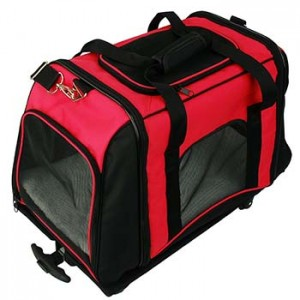 Trolley Borsa di trasporto per animali domestici Rosso